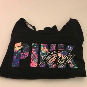 Pink by VS off shoulder sweatshirt Sz LG